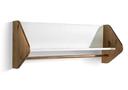 weiss, honig - Wandregal 95x37x25cm