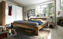 Doppelbett, 160 x 200 cm, Wildeiche geölt