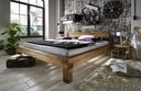 Doppelbett, 180 x 200 cm, Wildeiche geölt