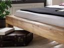 Doppelbett, 200 x 200 cm, Wildeiche geölt