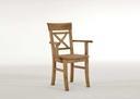 gelaugt geölt - Stuhl mit Armlehne, 61x94x43 cm, gelaugt geölt