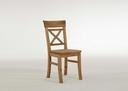 gelaugt geölt - Stuhl ohne Armlehne, 45x94x43 cm, gelaugt geölt