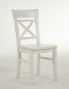weiss - 45x43x94cm - Stuhl ohne Armlehnen, 45x43x94cm