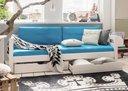 blau - Einzelbett, weiß, 210 x 63,5 x 100 cm