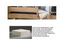 Schaumstoffmatratze, mit Multi Color Bezug anthrazit/weiß 12x90x200 cm
