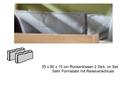 Rückenkissen (2erSet), weiß/anthrazit - 35 x 90 x 10 cm