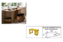 Schreibtisch - 135 x 75 x 71/52 cm