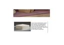 Schaumstoffmatratze, mit Multi Color Bezug lavendel/weiß, 12x90x200 cm