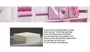 Schaumstoffmatratze, mit Multi Color Bezug pink/lila, 12x90x200 cm