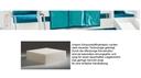 Schaumstoffmatratze, mit Multi Color Bezug dunkelcyan/aquamarine, 12x90x200 cm