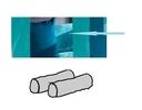 Kissenrollen -2er Set, aquamarine/dunkelcyan - 30 x 90 cm
