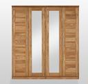 4-teilig 191 x 207 x 61 cm, davon 2x Spiegeltür