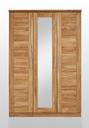 3-teilig 143 x 207 x 61 cm, davon 1x Spiegeltür