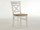 Stuhl mit Holzsitz ohne Armlehne B45xH94xT43, weiß gelaugt geölt