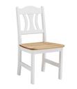 weiss, gelaugt - 44x45x92 cm - Stuhl mit Holzsitz 44x45x92 cm