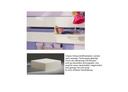 Schaumstoffmatratze, mit Multi Color Bezug lavendel/hellesFlieder, 12x90x200 cm