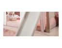 Schaumstoffmatratze, mit Multi Color Bezug rosa/weiß, 12x90x200 cm