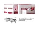 Rückenkissen 35x90x10cm (2-er Set) rosa/corall
