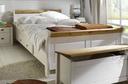 Doppelbett 140x200 cm, weiß gelaugt geölt