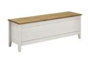 Wäschetruhe 135,5x47x38 cm, weiß gelaugt geölt