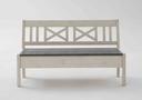 weiß Sitzfläche grau