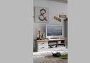Lowboard TV Schrank 171,3x53,4x48 cm, weiß gelaugt geölt